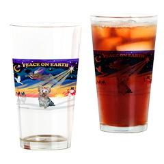 XmasSunrise/Yorkie #13 Drinking Glass
