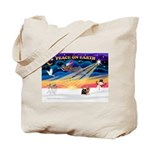 XmasSunrise/Yorkie #9 Tote Bag