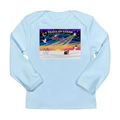 XmasSunrise/Yorkie #9 Long Sleeve Infant T-Shirt
