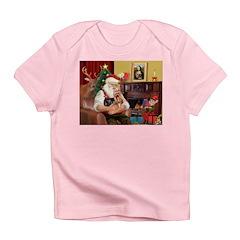Santa / Yorkie (#9) Infant T-Shirt