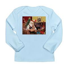 Santa / Yorkie (#9) Long Sleeve Infant T-Shirt