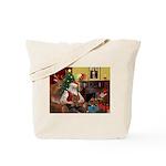 Santa's Yorkie (#11) Tote Bag