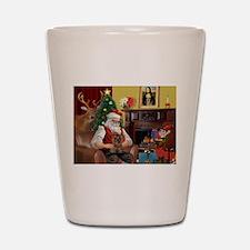 Santa's Yorkie (#11) Shot Glass