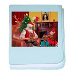 Santa's Yorkie (#11) baby blanket