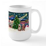 XmasMagic/2 Yorkies Large Mug