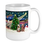 XmasMagic/2 Yorkies Large Mug