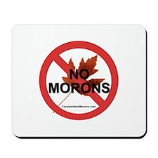 """No Morons"" Mousepad"