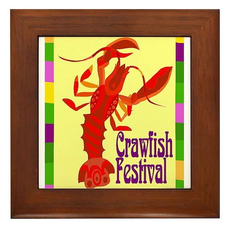 Crawfish Fest Framed Tile