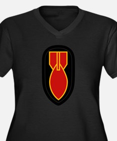 WWII Bomb Disposal Women's Plus Size V-Neck Dark T