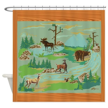 Woodland Creatures Shower Curtain By Hollycedesigns