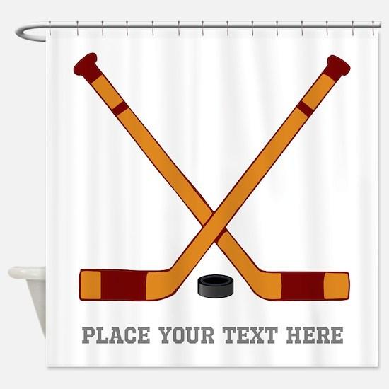Ice Hockey Customized Shower Curtain