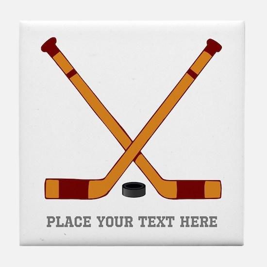 Ice Hockey Customized Tile Coaster