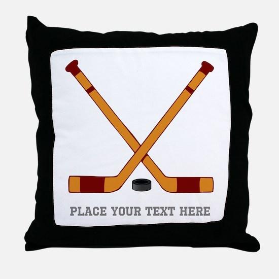 Ice Hockey Customized Throw Pillow