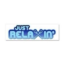 Lacrosse Just ReLAXin' Car Magnet 10 x 3