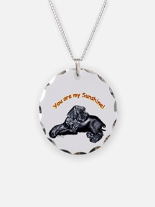 Schnauzer Puppy you are my sunshine Necklace