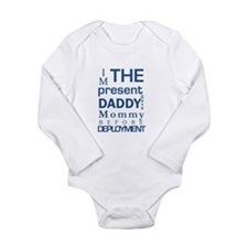 Present from Daddy-Baby Boy Long Sleeve Infant Bod