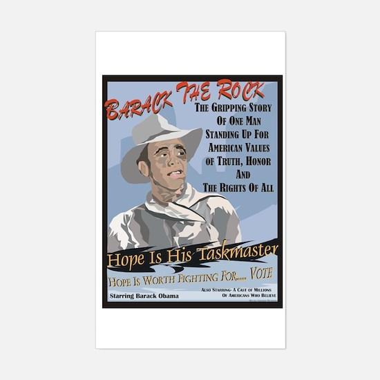 Barack The Rock / Sticker (Rectangle)