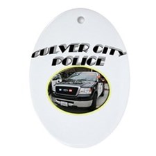 Culver City Police Truck Ornament (Oval)