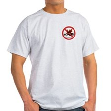 """No Morons"" Grey T-Shirt"