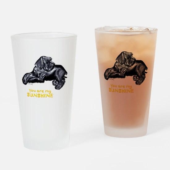 giant schnauzer Drinking Glass