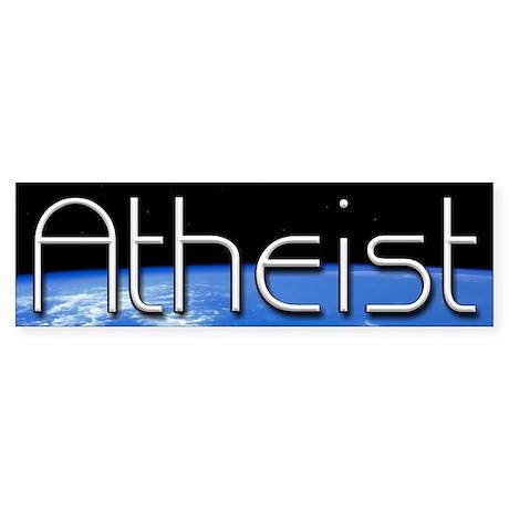 Atheist Worldview Sticker (Bumper)