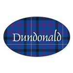 Tartan - Dundonald Sticker (Oval 50 pk)