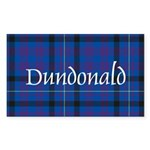 Tartan - Dundonald Sticker (Rectangle 50 pk)