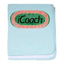 i Coach Track and Field baby blanket