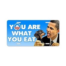 Are What You Eat Aluminum License Plate
