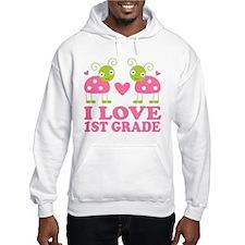 I Love 1st Grade Gift Hoodie