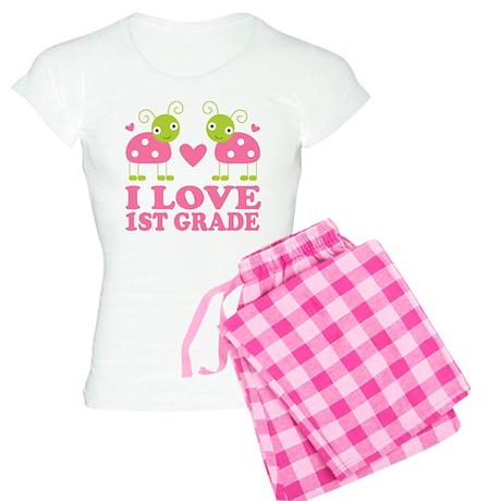 I Love 1st Grade Gift Women's Light Pajamas