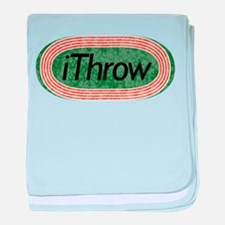 i Throw Track and Field baby blanket