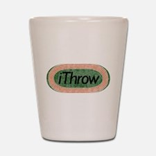 i Throw Track and Field Shot Glass