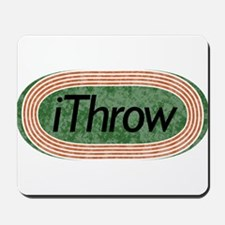 i Throw Track and Field Mousepad