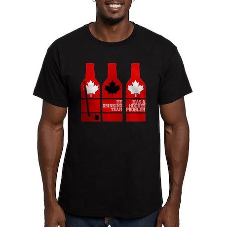 Hockey Problem Men's Fitted T-Shirt (dark)