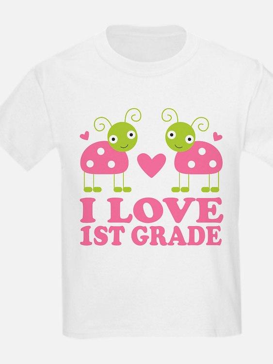 I Love 1st Grade Gift T-Shirt