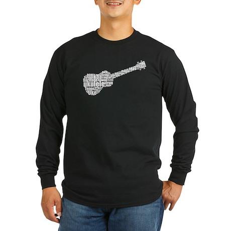 Ukulele uke Long Sleeve Dark T-Shirt