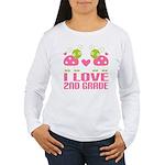 I Love 2nd Grade Gift Women's Long Sleeve T-Shirt