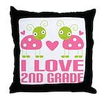 I Love 2nd Grade Gift Throw Pillow
