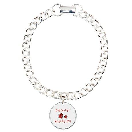 Big Sister Ladybug 1112 Charm Bracelet, One Charm