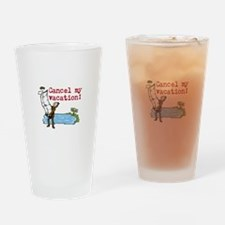 Cute Paperwork Drinking Glass