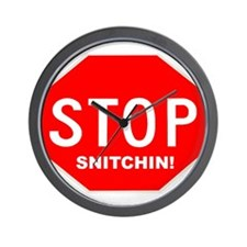 Stop Snitchin' Wall Clock