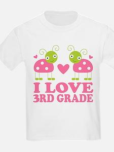 I Love 3rd Grade Gift T-Shirt