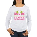 I Love 3rd Grade Gift Women's Long Sleeve T-Shirt