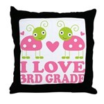 I Love 3rd Grade Gift Throw Pillow