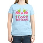 I Love 4th Grade Gift Women's Light T-Shirt