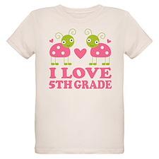 I Love 5th Grade Gift T-Shirt