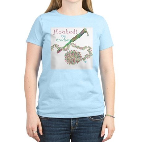 Hooked On Crochet Women's Pink T-Shirt