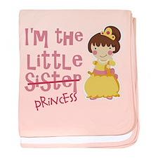 Funny Little Sister Princess baby blanket