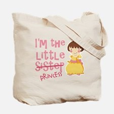 Funny Little Sister Princess Tote Bag